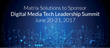 Matrix Solutions to Lend Insights in First Ever Digital Media Tech Leadership Summit