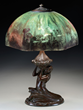 Lot 1685:  Handel reverse painted underwater lamp, estimated at $30,000-40,000.