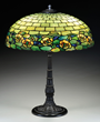 Lot 1702:  Duffner & Kimberly Water Hyacinth table lamp, estimated at $10,000-15,000.