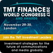 TMT Finance World Congress & Awards 2017 Announced for London on November 29-30