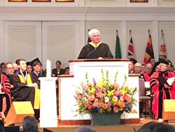 Don Stephens addresses the Gordon College Class of 2017