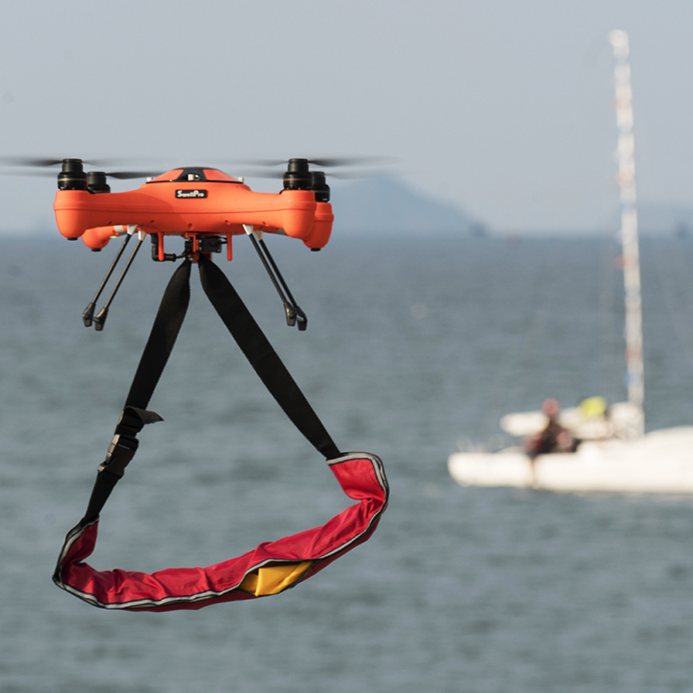 Splash drone 3 the waterproof drone that can fly in the for Drone fishing line release