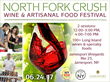 New York Wine Events Presents 3rd Annual North Fork Crush Wine & Artisanal Food Festival at Jamesport Vineyards, Saturday, June 24, 2017