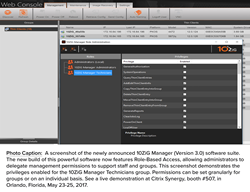 A screenshot of the newly announced 10ZiG Manager (Version 3.0) software suite. The new build of this powerful software now features Role-Based Access, allowing administrators to delegate management permissions to support staff and groups. This screenshot