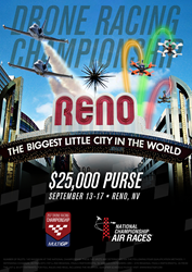 The nation's largest and most comprehensive drone racing championship will be held at the National Championship Air Races in Reno, Nevada.