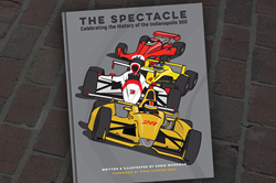 """The Spectacle - Celebrating the History of the Indianapolis 500"" children's book cover."