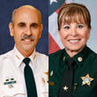 Sheriff Al Lamberti (Ret) and Major Patty Wells (Ret).
