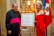Benefactor Rev. Monsignor Joseph Ambrosio with Honoree Her Excellency Vicki Downey, DGCHS