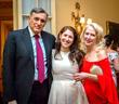 Richard Mizrack, daughter Lara Mizrack with H.E. Vicki Downey, DGCHS