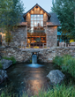 JLF Design Build worked with Verdone Landscape Architects to create unique water features using an ancient aquifer for The Creamery residence in Jackson Hole, Wyoming (photo by Audrey Hall).