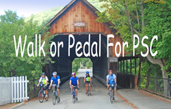 Charity cycling event in Vermont