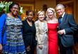 Margaret Brongo, Cynthia Orage, Savoy Foundation Executive Director  Larissa Van Duser, H.E. Vicki Downey and Richard Rabbito