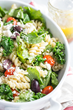 Mixed Greens Rotini  with Feta and Roasted Tomatoes from DreamfieldsFoods.com