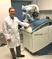 Dr. Wolfeld with the ARTAS 9x Robotic Hair Transplant System