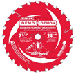 Diablo's newly enhanced Ultimate Framing and Demolition saw blade with Tracking Point Amped™ tooth design for up to 10 times cutting performance in intense applications.