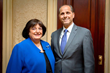 New York State Grand Lodge Foundation President Carolyn Reres with Vice President Robert Ferrito