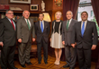 National Council Members Gerald E. Farrell, Jr., Roy De Barbieri,  Mira Zivkovich with Savoy Foundation Board Chairman Carl J. Morelli, President Joseph Sciame and Board Member John Laurent Gelati