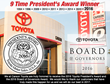 Carson Toyota is Awarded Top Honors from Toyota Motor Sales