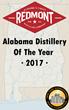 Redmont Distilling Named Alabama Distillery of Year 2017