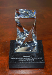 Heilind Electronics was awarded Amphenol's Best North American Performance in Distribution award for the second consecutive year.