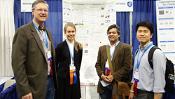 Judges congratulate SPIE Special Award first-place winner at Intel ISEF 2017.