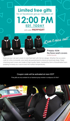 free gift tie tow seat cover in may 25