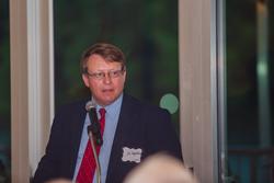 Commissioner Jai Templeton speaks before the Nine Lakes Winemakers' Dinner May 19.