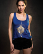 Wonder Woman has now inspired her own collection of fangirl fashion, courtesy of powerhouse/lifestyle brand Her Universe. Part of the collection includes this Daughters of Themyscira Tank Top (front).