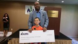 Joshua Tchou, Jericho, New York, winner of $10,000 Senior 1st prize in ALOHA Mind Math's 1st National Math Challenge