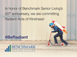 Benchmark Senior Living Employees in 7 States to Perform '1000 Radiant Acts of Kindness' in June