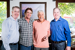 """Capture the Flag"" team: Adam Montierth, Barry Van Dyke, Dick Van Dyke, & Donovan Montierth."