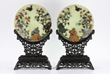 Pair of Chinese Jade Table Screens
