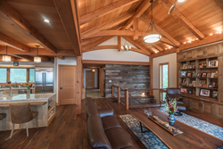 The great escape – the Olsen home by New Energy Works Timberframers featuring all-natural materials and one-of-a-kind design was awarded Best Home 2017 by Timber Home Living Magazine.
