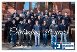 Huffman Engineering Celebrates 30 Year Anniversary