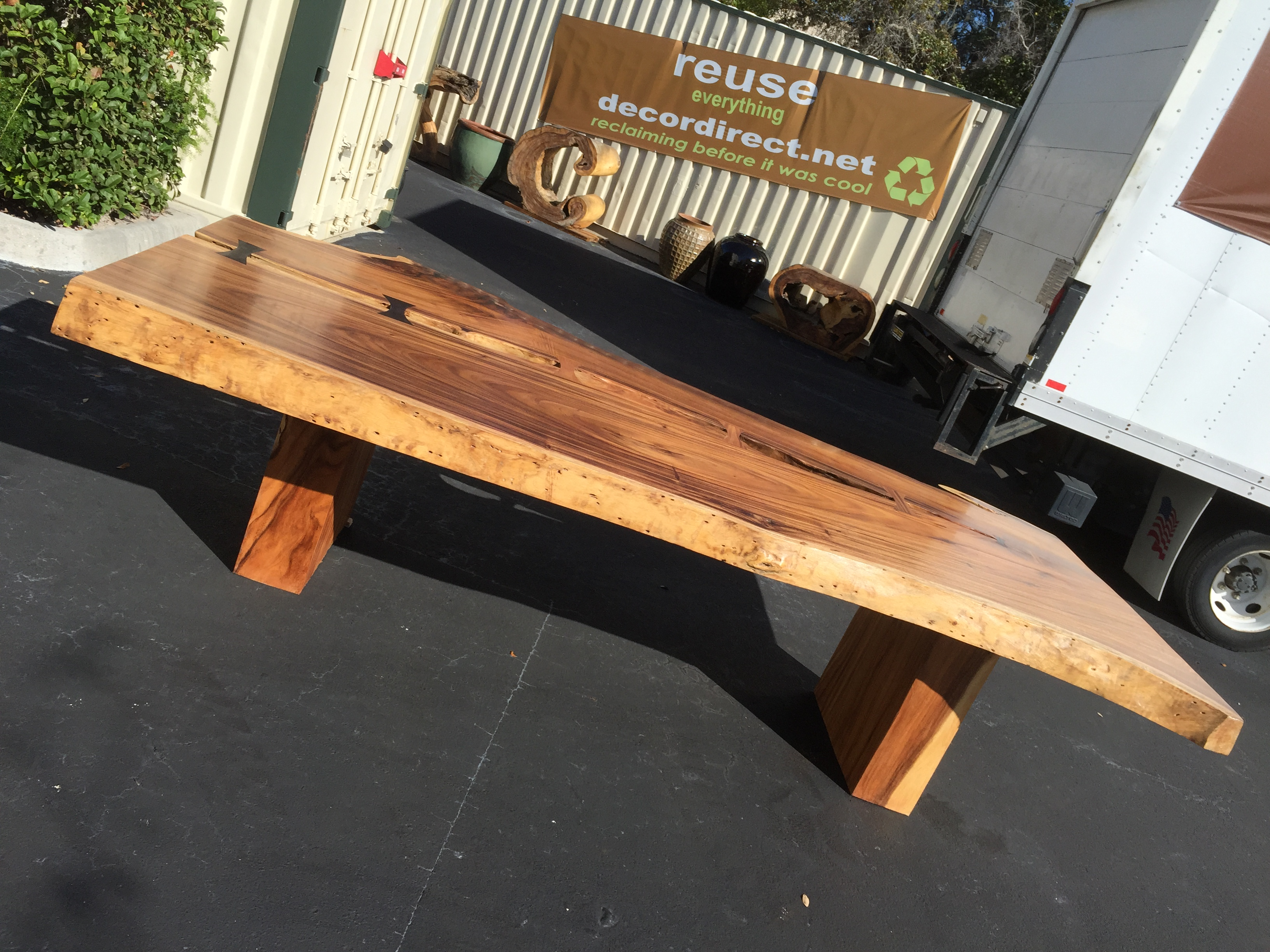 Reclaim Repurpose Restore at Decor Direct with Sustainable Furnishings Live  Edge Slab Furniture. Decor Direct Wholesale Warehouse Named One of Top 50 Furniture