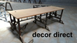 Salvaged Wood & Iron Table