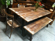 Industrial and Steampunk Furniture from Salvaged Wood & Iron