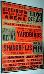 Original 1965 Yardbirds Alexandria Roller Skating Rink Concert Poster