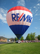 RE/MAX Hot Air Balloon draws a crowd.