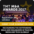 Over 4 billion euros of Telecom Infrastructure M&A Deals shortlisted for Deal of the Year at TMT M&A Awards 2017