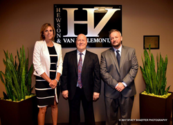 Lisa Janeczek, Jim Hewson and Louis Stefanic, Partners at Hewson and Van Hellemont, P.C.