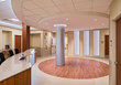 RSC Architects designed a Care Team station that is strategically positioned to give medical staff a full view of the wing and easy accessibility to patients.