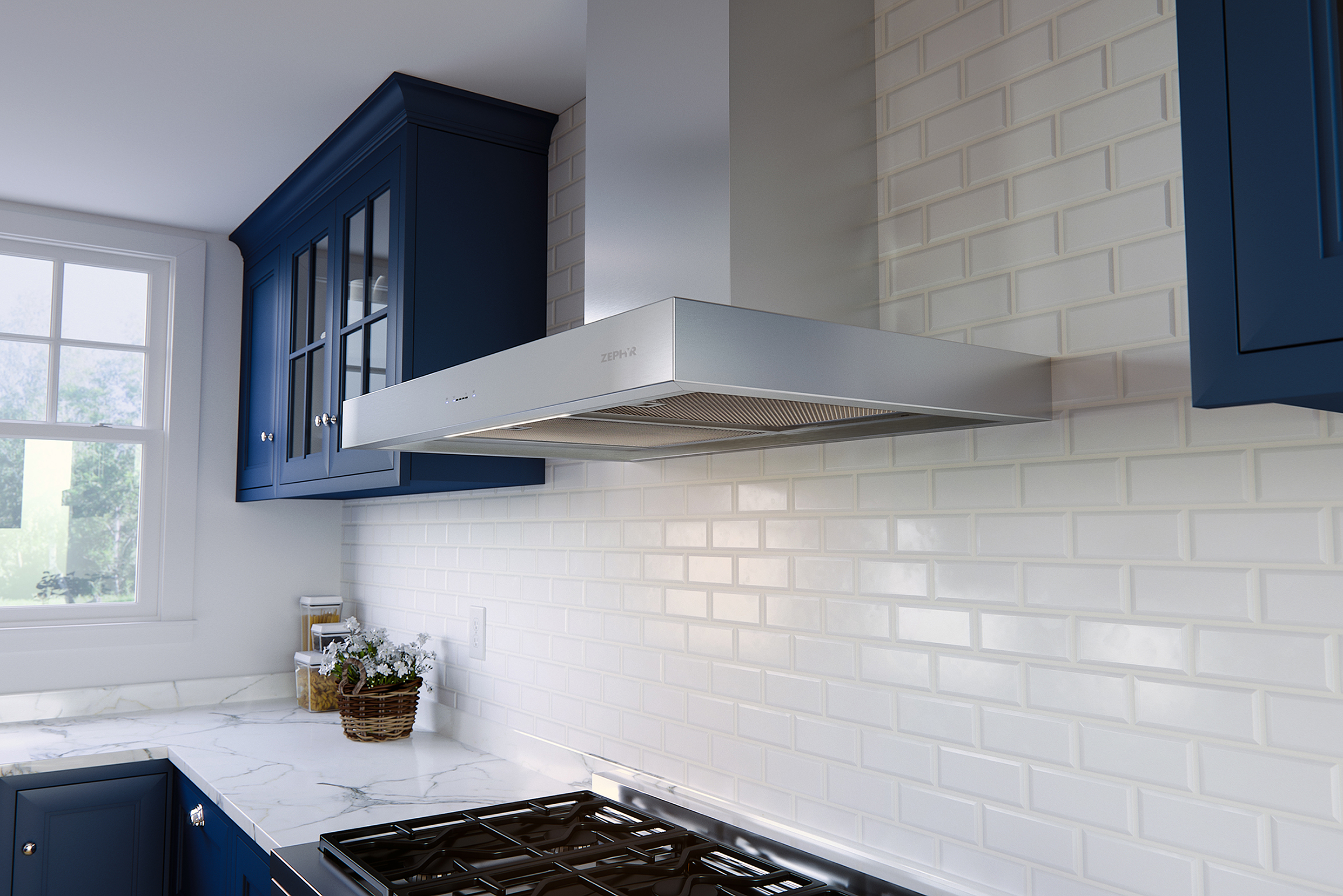 kitchen island cabinets with hood windows range zephyr modern under for cabinet recirculating design and chic plus