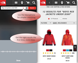 The North Face's Voice-enabled Mobile App for iPhone