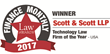 Scott & Scott, LLP Voted Technology Law Firm of the Year USA