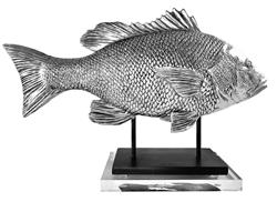 Coastal Decor   Coastal Accents   Tabletop Accessories   Snapper fish Figurine   Fish Sculpture   Home Accents   Interior Design from Clint Eagar Design Art Gallery in Santa Rosa Beach, FL   Gallery near Destin, Panama City, FL.