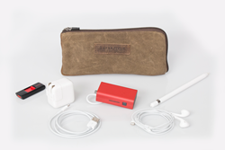 iPad Gear Case—shown with potential contents