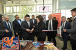 Monica Ferreirra, Vice Rector South Santiago cuts the ribbon at the opening of the Welding Laboratory.