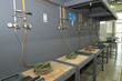Oxyacetylene training station with regulators, welding handle and welding tip.