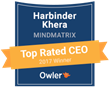 Mindmatrix CEO, Harbinder Khera Ranked #5 in Pittsburgh by Owler